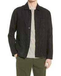Nn07 Oscar Linen Shirt Jacket