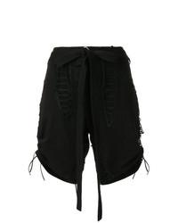 Saint Laurent Lace Up Design Shorts