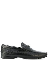Versace Crocodile Effect Signature Loafers