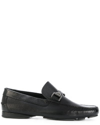 Versace Medusa Buckle Loafers