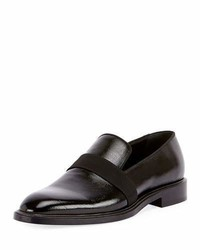 Givenchy Rider Patent Formal Loafer With Grosgrain Trim Black