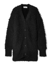Marni Oversized Textured Wool Blend Cardigan