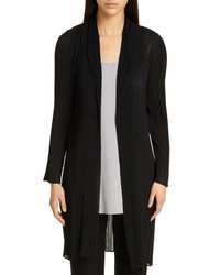 Eileen Fisher Shawl Collar Plisse Long Jacket