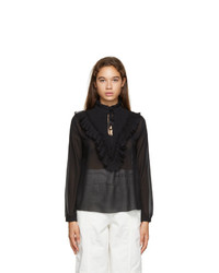 See by Chloe Black Tte Frill Blouse