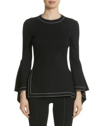 Rosetta Getty Drape Detail Jersey Top