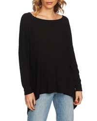 1 STATE Knot Back Highlow Top