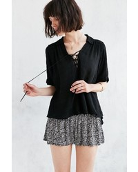 Ecote Lace Up Blouse