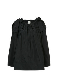 Maison Rabih Kayrouz Paper Bag Flared Blouse With Bow Details