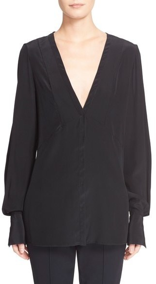 Jason Wu Silk V Neck Blouse