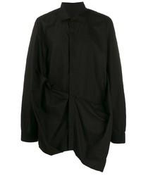 Rick Owens Asymmetric Long Sleeved Shirt