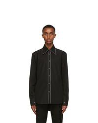Alexander McQueen Black 70s Collar Contrast Piping Shirt