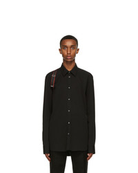 Alexander McQueen Black And Red Harness Shirt