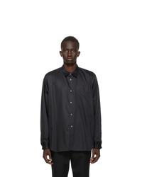 Comme Des Garcons Homme Plus Black Broadcloth Cut Out Shirt