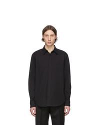 Cobra S.C. Black Compact Twill Detachable Collar Shirt