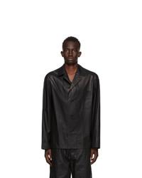 Lemaire Black Cotton Chintz Shirt