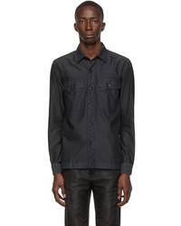 Tom Ford Black Cotton Gart Dyed Shirt