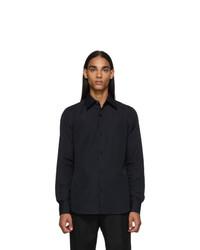 Dries Van Noten Black Cotton Poplin Shirt