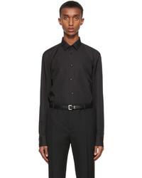 Saint Laurent Black Cotton Poplin Shirt