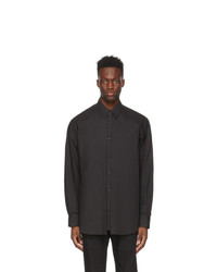 Juun.J Black Double Layered Shirt