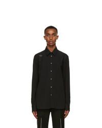 Alexander McQueen Black Harness Shirt