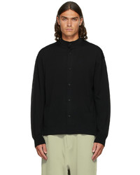 CFCL Black High Gauge Stand Collar Shirt
