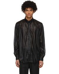 Johnlawrencesullivan Black Nylon Regular Shirt