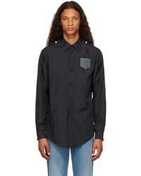 Maison Margiela Black Nylon Shirt