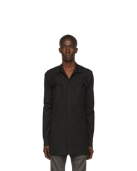 Rick Owens Black Office Shirt