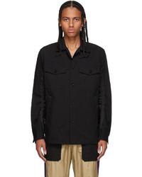 Sacai Black Oxford Twill Shirt