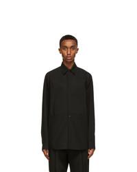Valentino Black Plastron Shirt
