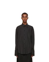 Balenciaga Black Plisse Shirt