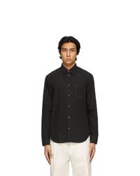 Maison Margiela Black Poplin Memory Of Shirt