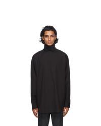 Fear of God Ermenegildo Zegna Black Poplin Oversized Shirt