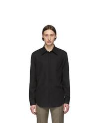 Maison Margiela Black Poplin Slim Fit Shirt