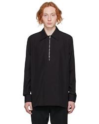 Givenchy Black Poplin Zip Shirt