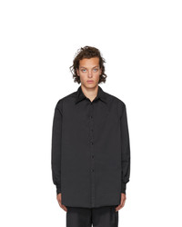 Valentino Black Semiover Fit Shirt