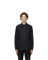 Alexander McQueen Black Slashed Shirt