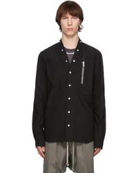 Rick Owens Black Snap Button Shirt