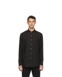 Polo Ralph Lauren Black Stretch Poplin Shirt