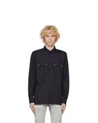 Balmain Black Used Oxford Cotton Shirt