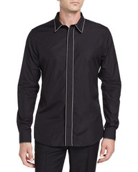 Givenchy Blk Chain Trim Ls Shirt