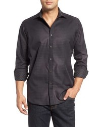 Bugatchi Classic Fit Ombre Effect Sport Shirt