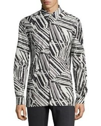 Versace Collection Abstract Frame Casual Button Down Shirt