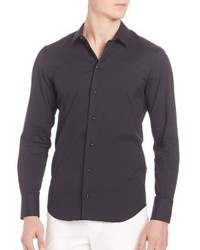 Emporio Armani Cotton Blend Long Sleeve Shirt
