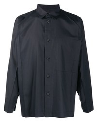 Issey Miyake Men Creased Long Sleeved Shirt