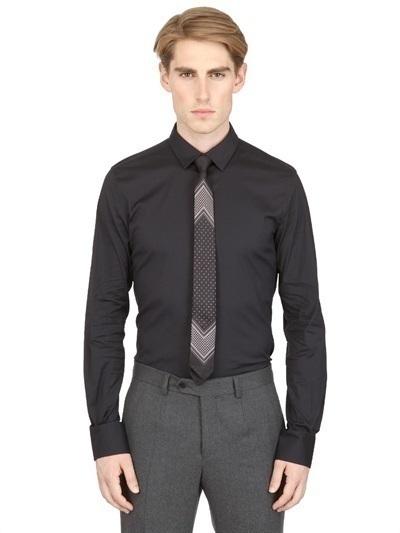Dolce & Gabbana Stretch Cotton Slim Fit Shirt
