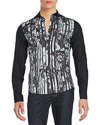 Versace Easy Slim Fit Button Down Shirt