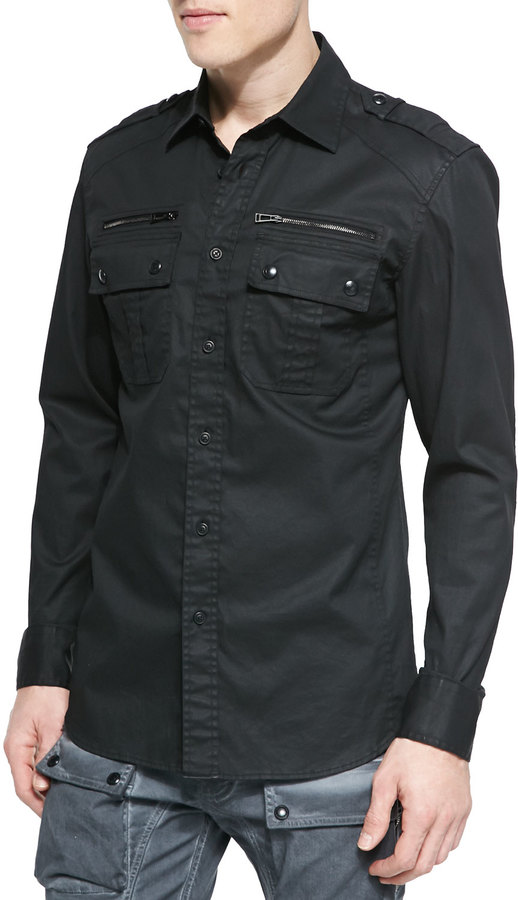 Belstaff Fulford Two Pocket Shirt Black | Where to buy & how to wear