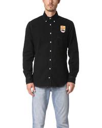 Gitman Brothers Gitman Vintage Long Sleeve Mt Fuji Black Flannel Shirt