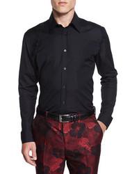 Alexander McQueen Harness Long Sleeve Sport Shirt Black